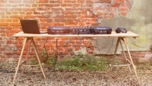 Outdoor Table DJ Booth - DJ Scott Dewing