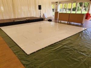 Answer to DJ Scott Dewings FAQs regarding Starlit Dancefloor floor protection.