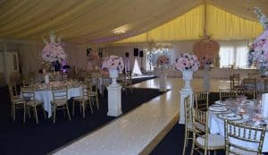 Wedding Starlit Dancefloor and walkway available from DJ Scott Dewing